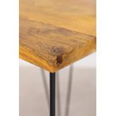 Table haute carrée en manguier (80x80 cm) Meriem, image miniature 5