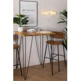 Table haute carrée en manguier (80x80 cm) Meriem, image miniature 1