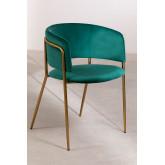 Chaise de salle à manger en velours Nalon, image miniature 2