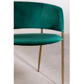 Chaise de salle à manger en velours Nalon, image miniature 5