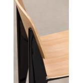 Tabouret haut avec dossier en bois (67 cm) et, image miniature 5