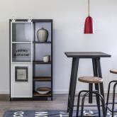 Table haute carrée en métal (60x60 cm) LIX Mate, image miniature 3