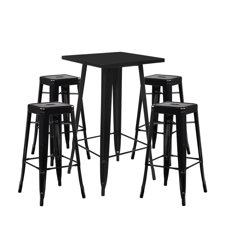 Set Table Haute LIX & 4 Tabourets Hauts LIX, image de la galerie 1