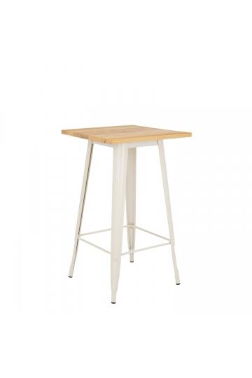 Table Haute LIX Mate en Bois