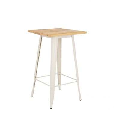 Table Haute LIX Mate en Bois