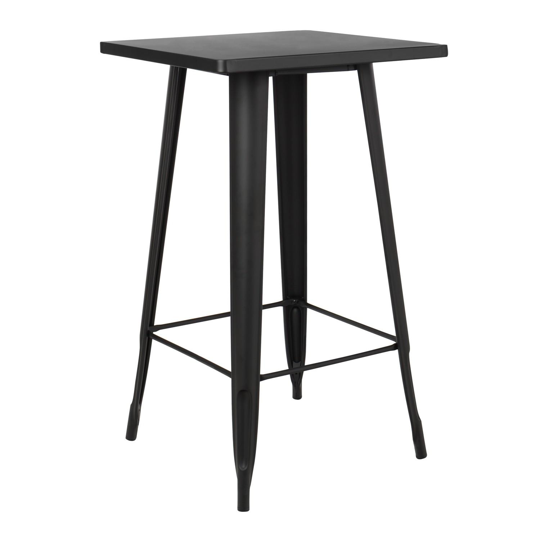 Table haute carrée en métal (60x60 cm) LIX Mate, image de la galerie 1