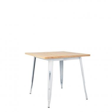 Table LIX Vintage en Bois (80x80)