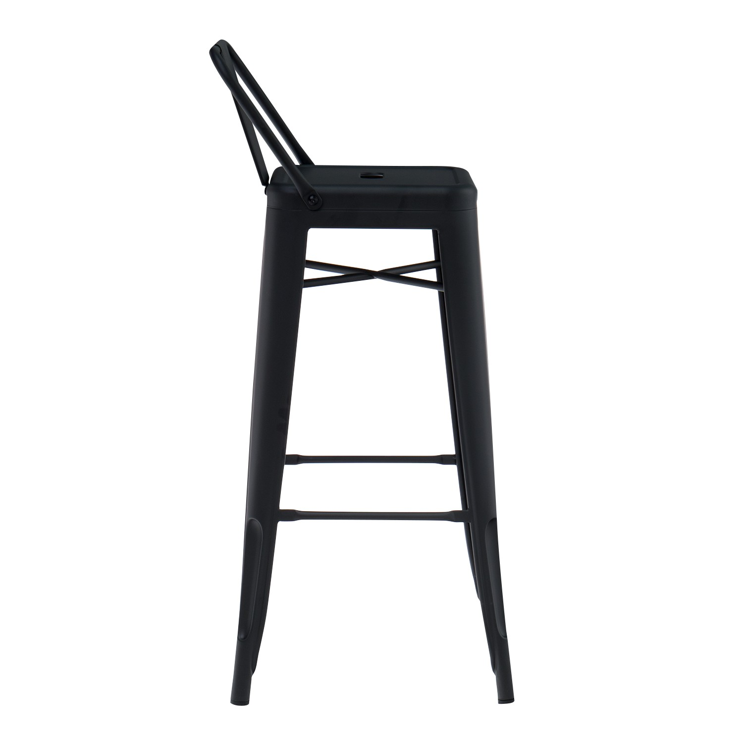 tabouret haut avec dossier lix mate sklum france. Black Bedroom Furniture Sets. Home Design Ideas