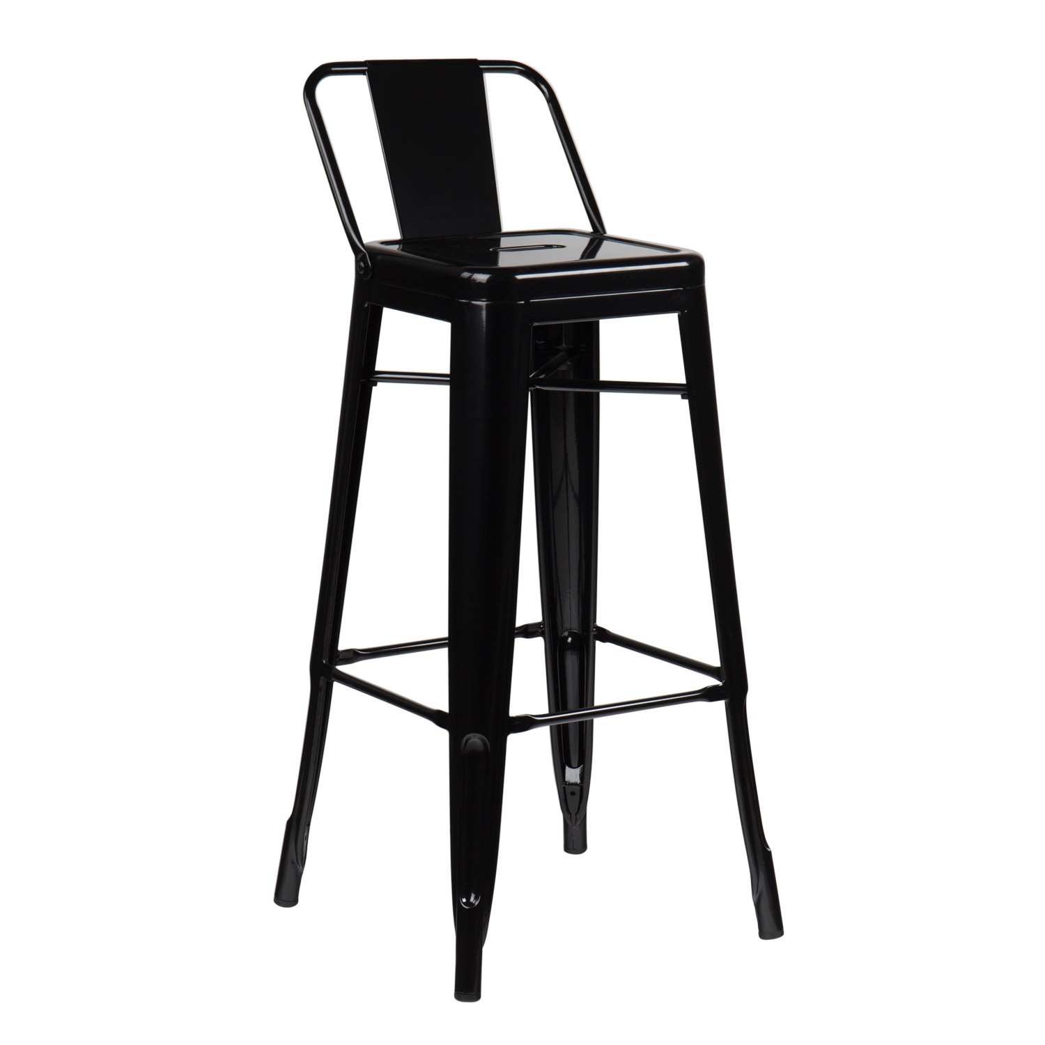 tabouret haut avec dossier lix sklum france. Black Bedroom Furniture Sets. Home Design Ideas