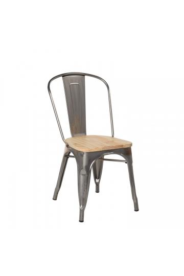 Chaise LIX Brossée en Bois