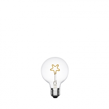 Bombilla LED E27 Regulable Filamento Corazón Planet G95 2.5W Base Superior