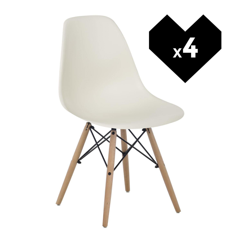 lot de 4 chaises ims sklum. Black Bedroom Furniture Sets. Home Design Ideas
