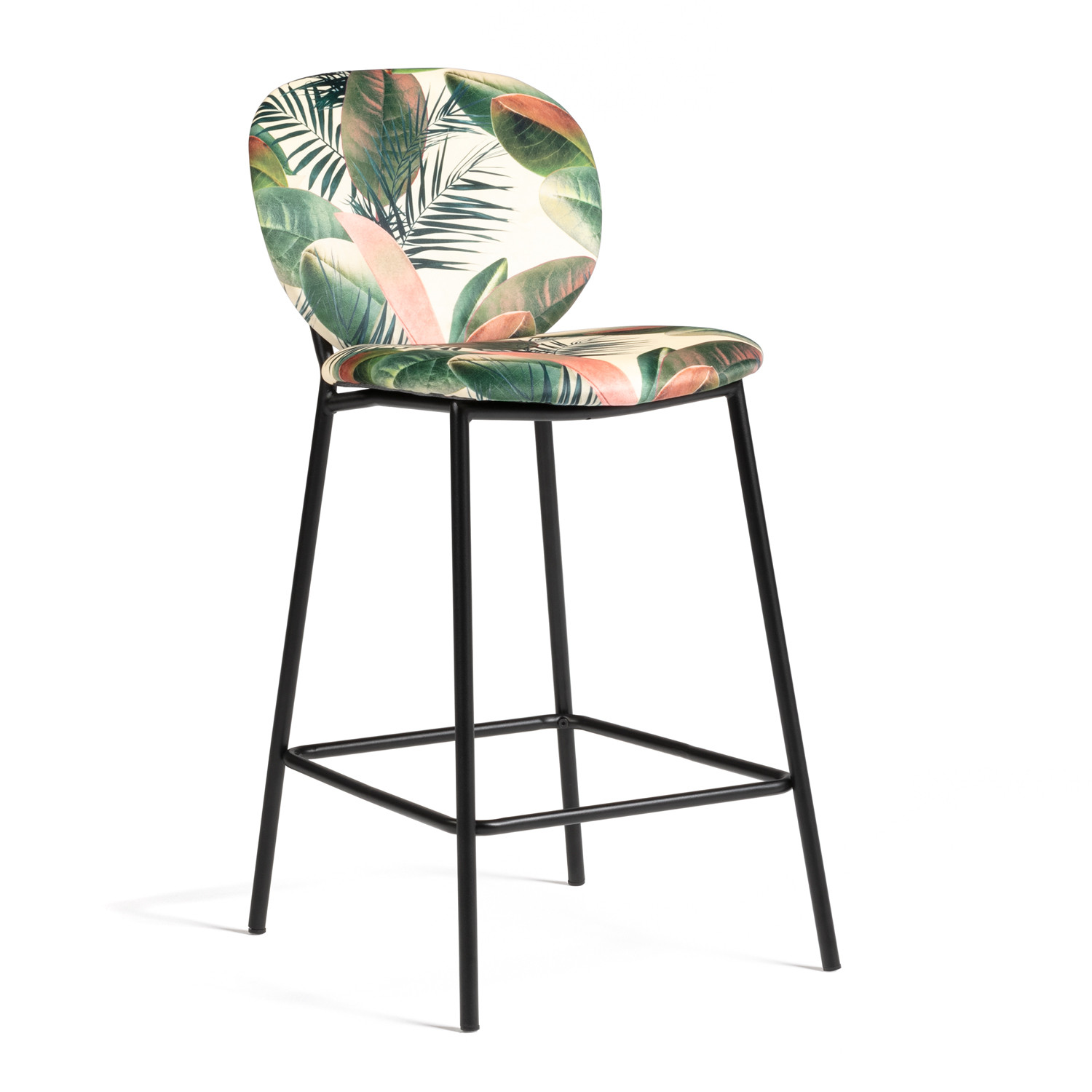 chaise haute bar tabouret scandinave bois naturel patchwork couleur mobistyl