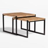 Tables gigognes en bois recyclé Emet, image miniature 2