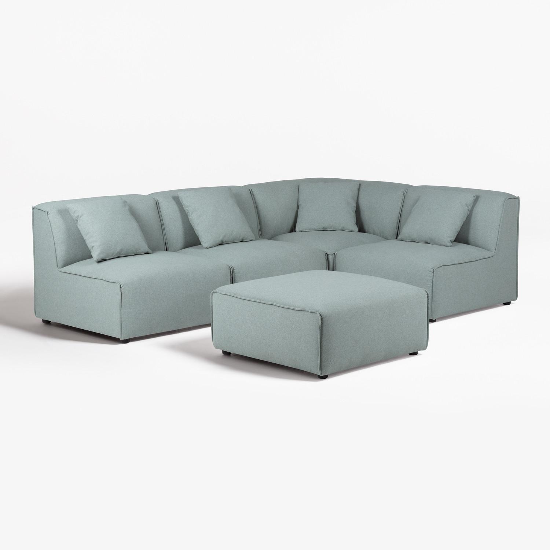 Canapé modulable 4 places avec Pouf Aremy, image de la galerie 1