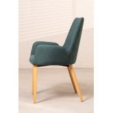 Chaise de salle à manger en bois de caoutchouc Azra, image miniature 2