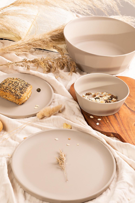 Pack de 4 petites assiettes en bambou Scott, image de la galerie 1