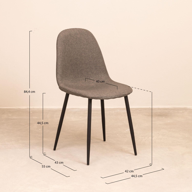 Pack de 4 Chaises en Lin Glamm SKLUM