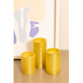 Pack de 3 Velas Color Dorado Special Flame