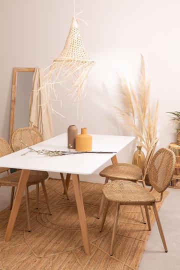 Table de Salle à Manger (180 x 90 cm) en Bois Manuh