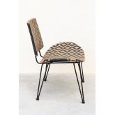 Chaise longue de jardin en osier synthétique Corvik, image miniature 3
