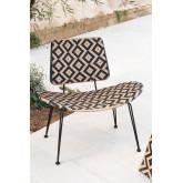 Chaise longue de jardin en osier synthétique Corvik, image miniature 1