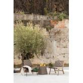 Table d'appoint de jardin en osier synthétique Corvik, image miniature 6