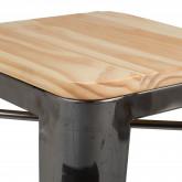 Tabouret haut en acier LIX bois brossé, image miniature 4