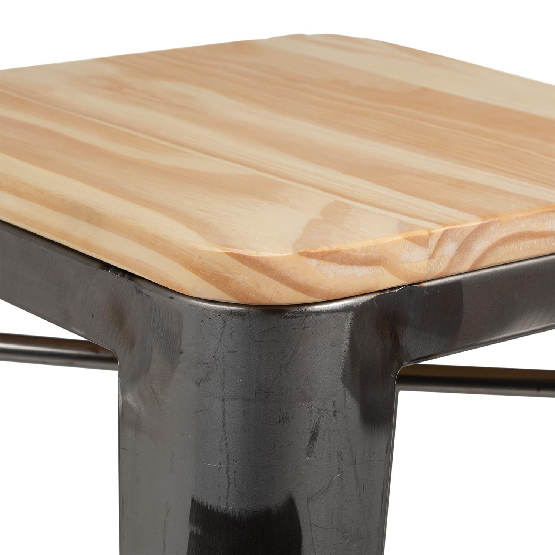 Fabriquer Une Table Haute En Bois tabouret haut lix brossé en bois - sklum