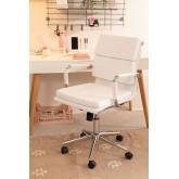 Chaise de bureau métallique à roulettes Fhöt, image miniature 1