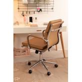 Chaise de bureau métallique à roulettes Fhöt, image miniature 3