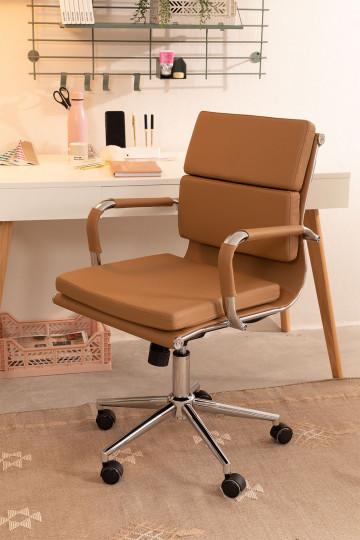 Chaise de bureau métallique à roulettes Fhöt