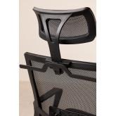 Chaise de Bureau avec Accoudoirs et Roulettes Teill Black, image miniature 5