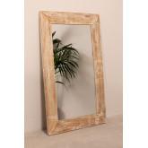 Miroir mural rectangulaire en bois (120x80 cm) Vuipo, image miniature 2