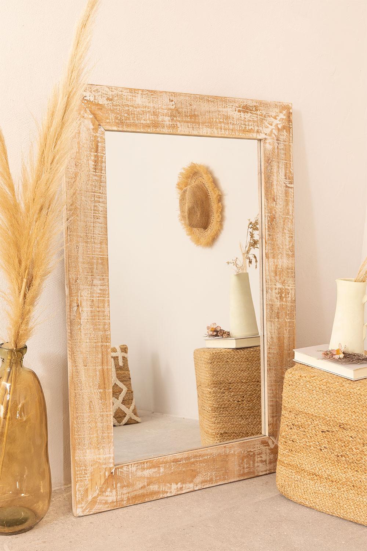 Miroir mural rectangulaire en bois (120x80 cm) Vuipo, image de la galerie 1