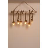 Lampe à suspension Savy Wood, image miniature 2