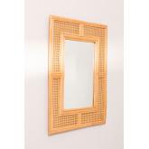 Miroir mural rectangulaire en rotin (75x61 cm) Masit , image miniature 2