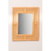 Miroir mural rectangulaire en rotin (75x61 cm) Masit , image miniature 3