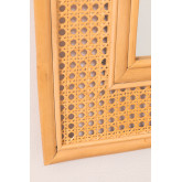 Miroir mural rectangulaire en rotin (75x61 cm) Masit , image miniature 5
