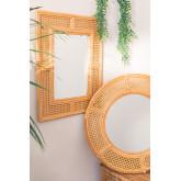 Miroir mural rectangulaire en rotin (75x61 cm) Masit , image miniature 6