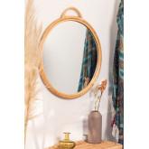 Espejo de Pared Redondo en Ratán Daro