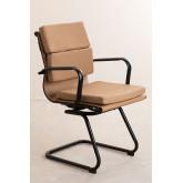Chaise de bureau avec accoudoirs Mina Black , image miniature 2