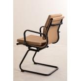 Chaise de bureau avec accoudoirs Mina Black , image miniature 3