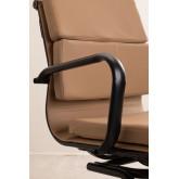 Chaise de bureau avec accoudoirs Mina Black , image miniature 4