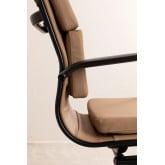 Chaise de bureau avec accoudoirs Mina Black , image miniature 5