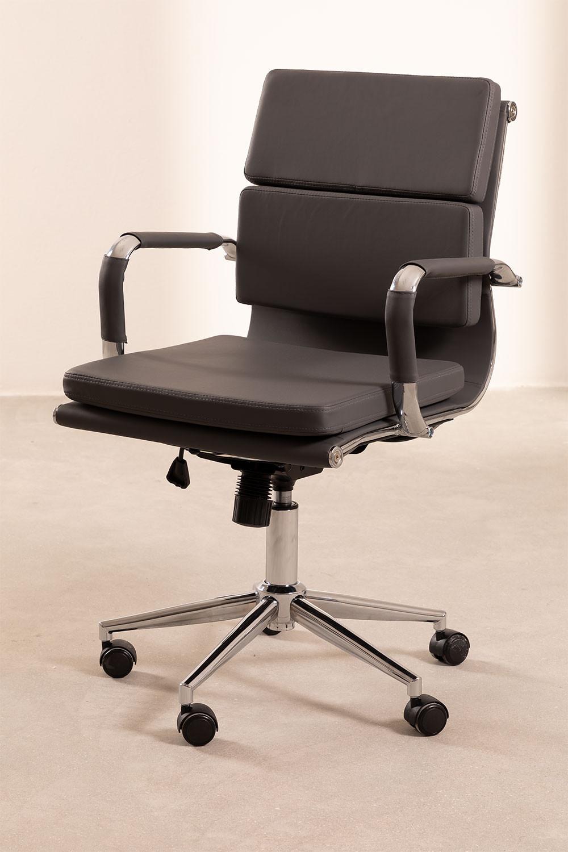Chaise de bureau métallique à roulettes Fhöt, image de la galerie 1