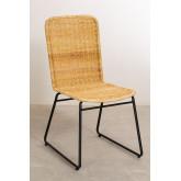 Chaise de salle à manger en rotin Vali Style, image miniature 1