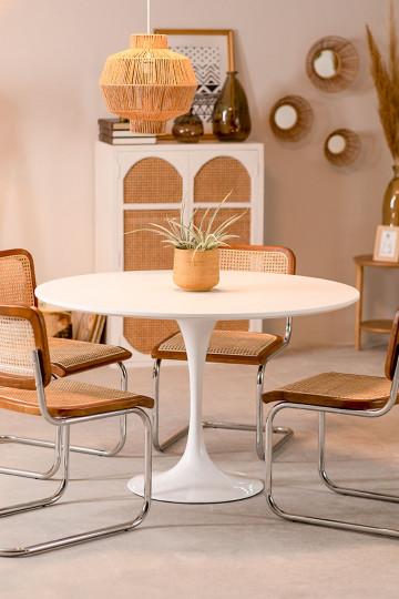 Table de Salle à Manger Ronde (Ø120 cm) en MDF et Métal Tuhl