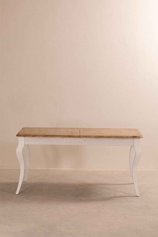 Table à manger extensible en bois (6-6x6 cm) Grayse