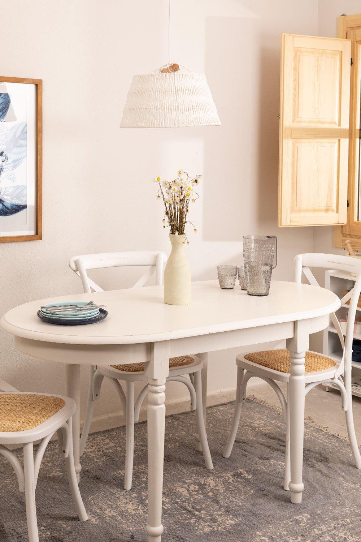 table a manger ovale en bois 150x77 cm viats